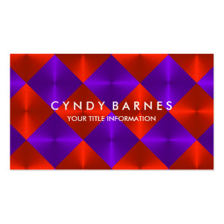 Red and Purple Tiles Business Card