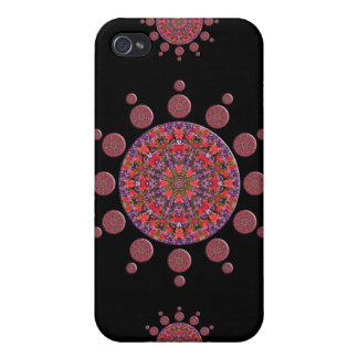 Red and Purple Tulip Mandala Fractal iPhone 4/4S Cover