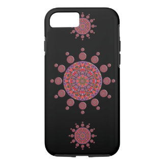 Red and Purple Tulip Mandala Fractal iPhone 7 Case