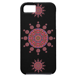 Red and Purple Tulip Mandala Fractal Tough iPhone 5 Case