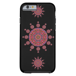 Red and Purple Tulip Mandala Fractal Tough iPhone 6 Case