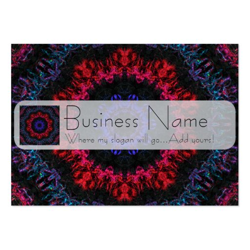 Red and purple yarn business card template