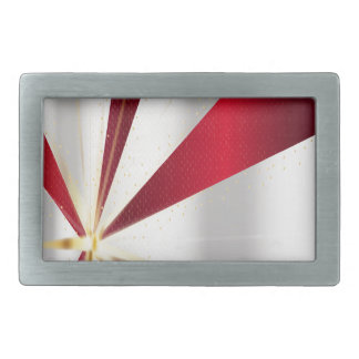 Red And Silver Background Belt Buckles