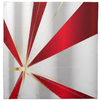 Red And Silver Background Napkin