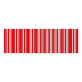 Red and Silver Christmas Stripes Business Card
