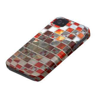 Red and Silver Disco Ball Mirrors Case-Mate iPhone 4 Case