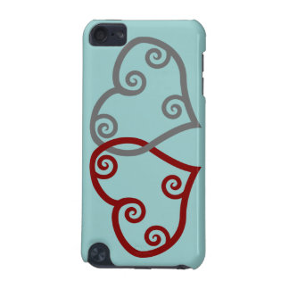 Red and Silver Maori Hearts iPod Touch Case