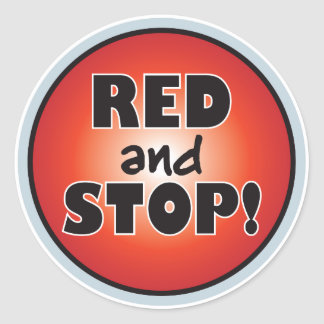 Red And Stop Stickers
