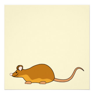 Red and Tan Pet Mouse. Personalized Invitations