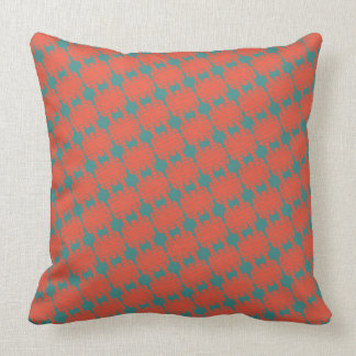 Red and Teal Green Southwestern Design Cushion