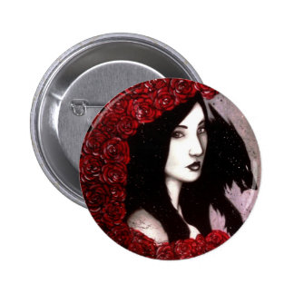 Red and the Wolf 6 Cm Round Badge