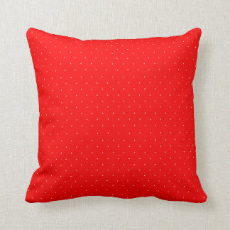 Red and Tiny White Polka Dots Cushion
