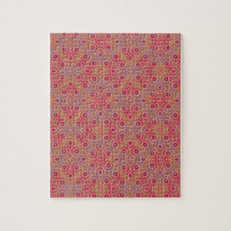 Red And Warm Optical Fabric Pattern For Cold Days Jigsaw Puzzle