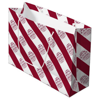 Red And Whire Christmas And New Year Large Gift Bag