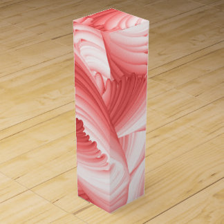 Red and White Abstract Wine Box