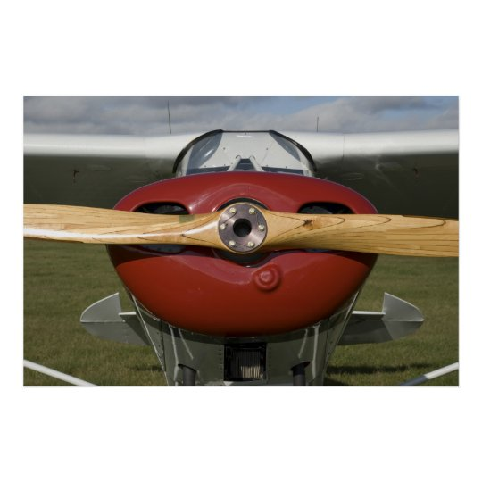 Red and White Aeroplane Poster