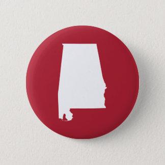 Red and White Alabama 6 Cm Round Badge