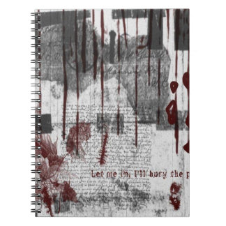 Red and White All Over Gothic Notebook