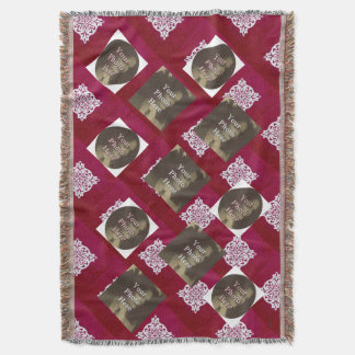 Red and White  Background 11 Eleven Photo Custom. Throw Blanket