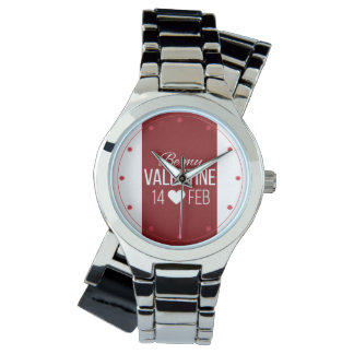 Red And White Be My Valentine Heart Watch