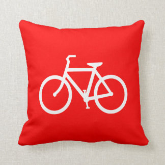 Red and White Bike Cushion