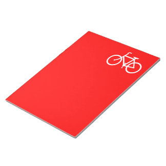 Red and White Bike Notepad