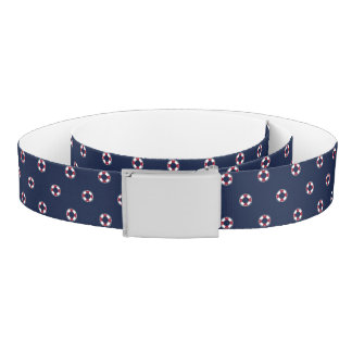 Red And White Buoy Pattern Belt