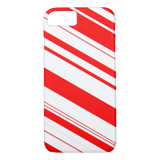 Red and White Candy Cane Stripes iPhone 7 Case