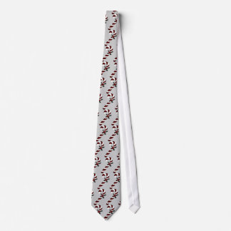 """""""Red and White Candy Canes w/ Holly"""" Tie"""