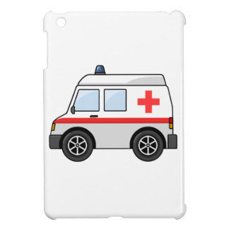 Red and White Cartoon Ambulance Case For The iPad Mini