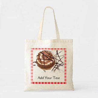 Red and White Checked Plaid Dessert Tote Bags