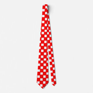 Red and White Checkered Tie