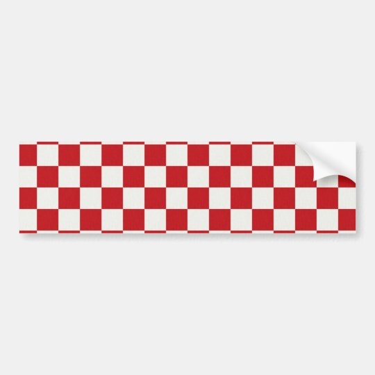 Red and White Chequered Pattern Country BBQ Bumper