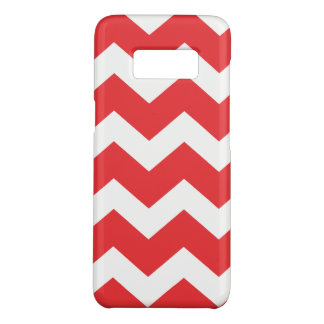 Red and White Chevron Case-Mate Samsung Galaxy S8 Case