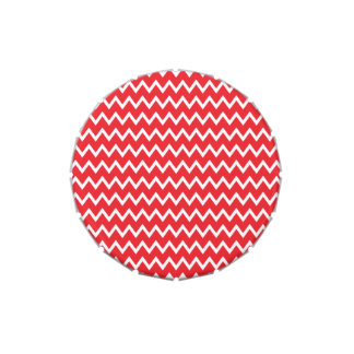 Red and White Chevron Pattern Jelly Belly Tins