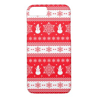 Red and White Christmas Case-Mate iPhone Case