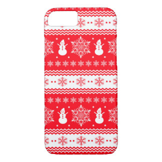 Red and White Christmas iPhone 8/7 Case