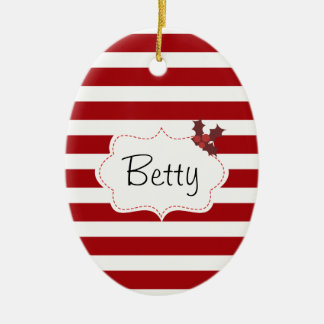 Red and White Christmas Magic Christmas Ornament