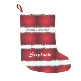 Red And White Christmas Pattern Small Christmas Stocking