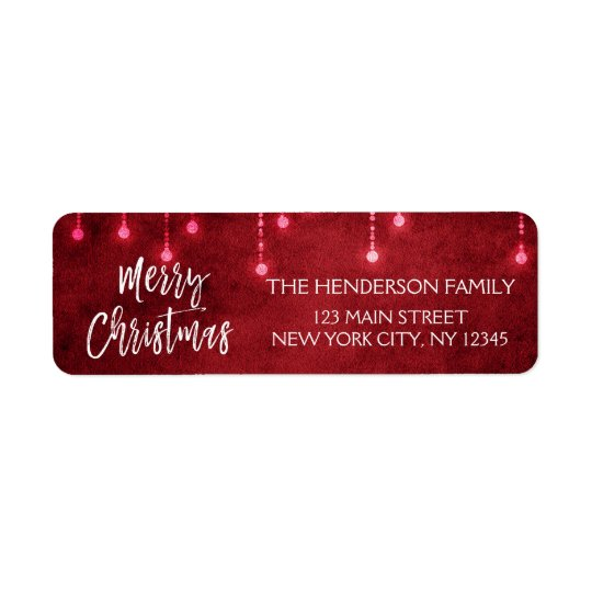 Red and White Christmas Script Holiday