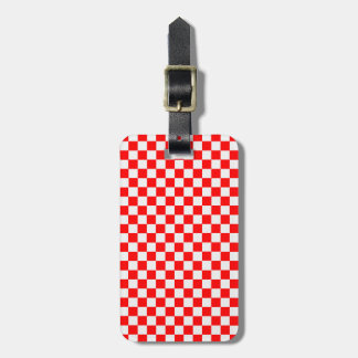 Red And White Classic Checkerboard Bag Tag