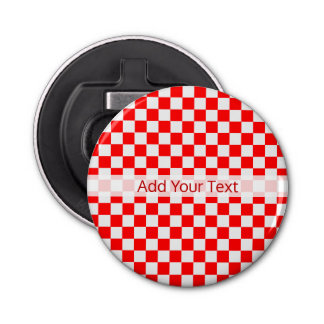 Red And White Classic Checkerboard by STaylor