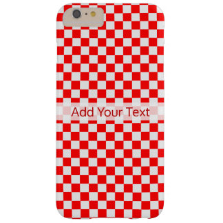 Red And White Classic Checkerboard by STaylor Barely There iPhone 6 Plus Case