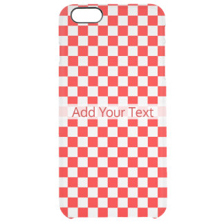 Red and White Classic Checkerboard by STaylor Clear iPhone 6 Plus Case