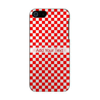 Red and White Classic Checkerboard by STaylor Incipio Feather® Shine iPhone 5 Case