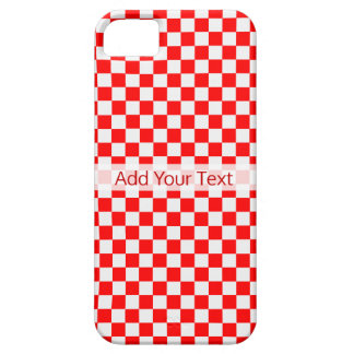 Red And White Classic Checkerboard by STaylor iPhone 5 Covers