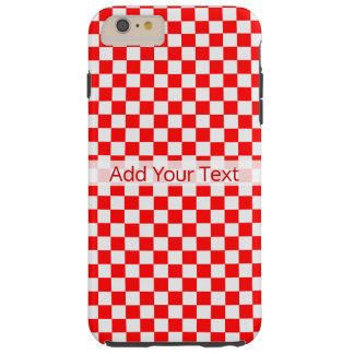 Red And White Classic Checkerboard by STaylor Tough iPhone 6 Plus Case