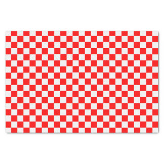 Red And White Classic Checkerboard Tissue Paper