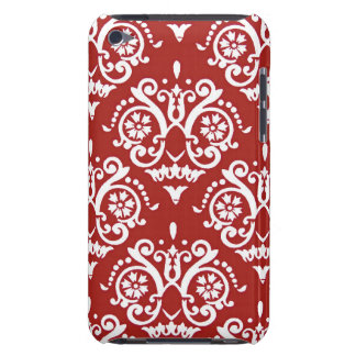 Red and White Classic Damask iPod Touch Cover