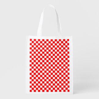 Red And White Diamond-Checkerboard